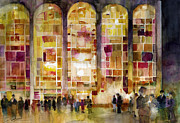 Lincoln Center Print by Dorrie Rifkin