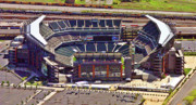Aerial Photo Of Philadelphia Posters - Lincoln Financial Center Philadelphia Poster by Duncan Pearson