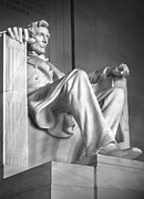 Close-up Digital Art Posters - Lincoln Memorial Poster by Mike McGlothlen