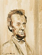 Abe Lincoln Paintings - Lincoln Portrait #11 by Daniel W Green