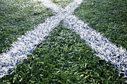 Lines On Sports Field Print by Paul Edmondson