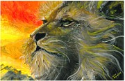 Lion Of Judah Paintings - Lion of Judah by Kat Beights