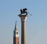 Venise Photos - Lion of Venice by Bernard Jaubert