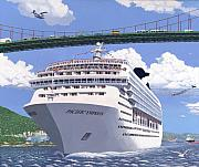 Seagoing Prints - Lions Gate Bon Voyage Print by Neil Woodward