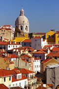Old Houses Metal Prints - Lisbon View Metal Print by Carlos Caetano