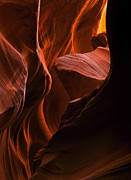 Slot Canyon Photos - Lit from Above by Mike  Dawson