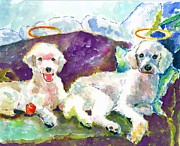 Boxer Paintings - Little Angels Poodles by Marsden Burnell