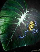 Dart Paintings - Little Frog in a Big World by Sharon Supplee