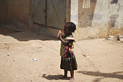 Senegal Photos - Little Girl by Kamel Rekouane