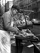 Food Vendors Framed Prints - Little Italy, Charles Catalano Cleaning Framed Print by Everett