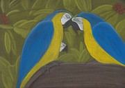 Macaw Pastels - Little Macaw by Vonna Beam