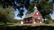 Little Red School House  Print by Charles Kraus