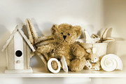 Plaything Photo Prints - Little rusty teddy bear Print by Sandra Cunningham