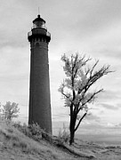Jeff Holbrook Metal Prints - Little Sable Point Lighthouse Metal Print by Jeff Holbrook