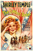 Confederate Flag Framed Prints - Littlest Rebel, Shirley Temple, 1935 Framed Print by Everett