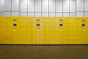 Furnishing Framed Prints - Locker Room Framed Print by Guang Ho Zhu