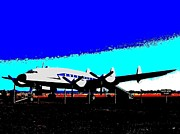 Dolphin Digital Art - Lockheed Constellation by Will Borden