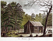 Log Cabin Prints - Log Cabin, 1826 Print by Granger