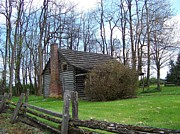 Cabin Corner Photos - Log Cabin by Charles Robinson