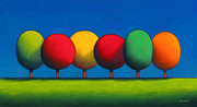 Color Pastels Prints - Lollipop Trees Print by Christopher Jackson