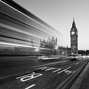 Bus Photo Framed Prints - London Big Ben Framed Print by Nina Papiorek
