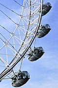 Ferris Wheel Prints - London Eye Print by Elena Elisseeva