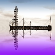 London Eye Prints - London Eye Print by Sharon Lisa Clarke