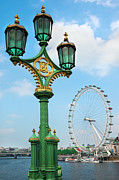 Historic Ship Prints - London Eye Print by Svetlana Sewell