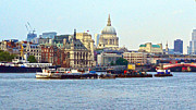 London Skyline Digital Art Prints - London Skyline Print by Pravine Chester
