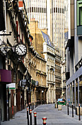 Ground Framed Prints - London street Framed Print by Elena Elisseeva