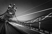 Nightshot Posters - London Tower Bridge Poster by Nina Papiorek