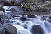 Lone Pine Framed Prints - Lone Pine Creek And Ice In The Lone Framed Print by Rich Reid