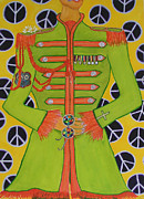 Sgt Pepper Beatles Paintings - Lonely Hearts Club Member John by Barbara Nolan