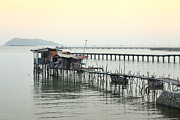 Famous Bridge Originals - Long bridge in the sea by Anek Suwannaphoom