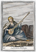 Lutenist Photo Framed Prints - Long Lute, 1723 Framed Print by Granger
