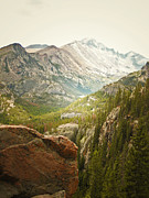 Colorado Greeting Cards Prints - Longs Peak Print by Andrea Hazel Ihlefeld
