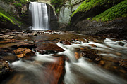 Outdoor Framed Prints - Looking Glass Falls Framed Print by Andrew Soundarajan