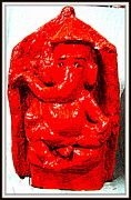 Stones. Sculpture Prints - Lord Ganesha Print by Anand Swaroop Manchiraju
