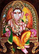 Indian Art - Lord GANESHA by Harsh Malik