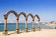 Columns Photo Metal Prints - Los Arcos Amphitheater in Puerto Vallarta Metal Print by Elena Elisseeva