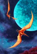 Pterodactyls Prints - Lost in Space Print by Thomas Connors