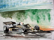 Nascar Paintings - Lotus F1 Mario Andretti by Gerald Swift