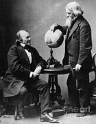 Agassiz Prints - Louis Agassiz And Benjamin Peirce Print by Science Source