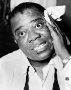 Louis Armstrong 1900-1971 Print by Granger