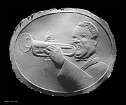 Trumpet Photo Originals - Louis Armstrong by Suhas Tavkar