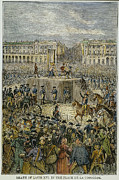 French Revolution Prints - Louis Xvi: Execution, 1793 Print by Granger