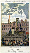 French Revolution Prints - Louis Xvi: Execution Print by Granger