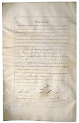 Louisiana Purchase Framed Prints - Louisiana Purchase Treaty Of 1803 Framed Print by Everett