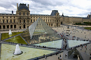 Crowd Framed Prints - Louvre museum. Paris Framed Print by Bernard Jaubert