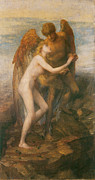 Embracing Painting Posters - Love and Life Poster by George Frederic Watts